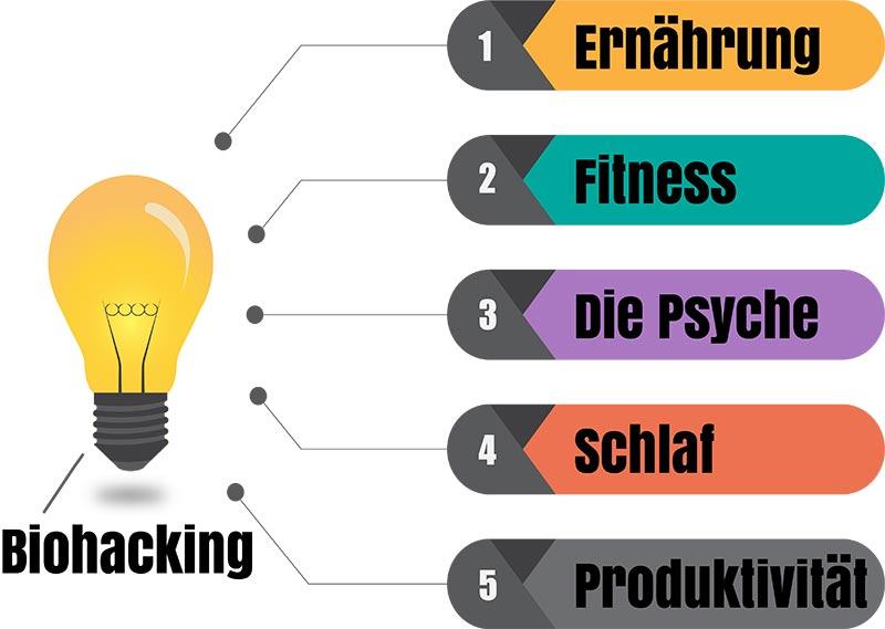 Biohacking Infografik
