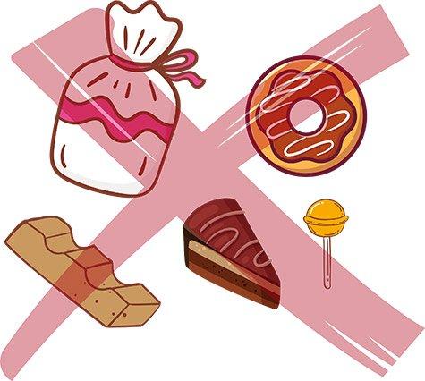 Auf Süßigkeiten verzichten